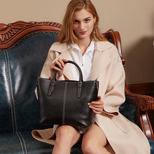 Load image into Gallery viewer, Amethyst AB37 Luxury Comfortable And Generous Leather Shoulder bag/Tote