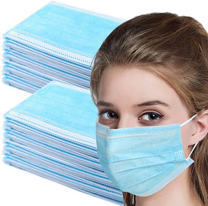 Disposable Face Masks with elastic ear loop dust filter virus defense Safety Industrial Mouth Cover (200 Pieces)