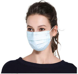 Disposable Face Masks with elastic ear loop dust filter virus defense Safety Industrial Mouth Cover (50 Pieces)