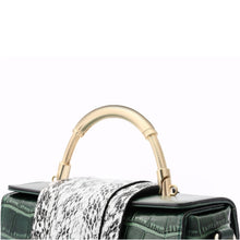 Load image into Gallery viewer, Amethyst AA59 Luxury Crocodile Grain Leather Shoulder bag(two straps)/Tote-Multiple colors