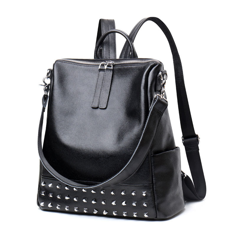 Amethyst M7724 Fashion Rivet Leather Single-shoulder bag / Backpack