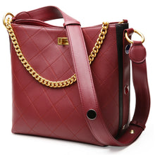 Load image into Gallery viewer, Amethyst AB069 Color clash crystal buckle Leather Shoulder bag/Tote-Multiple colors
