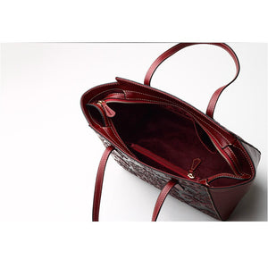 Amethyst M7843 Luxury Embossed Leather Handbag