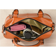 Load image into Gallery viewer, Amethyst M9739 oil wax cowhide Single-shoulder bag / Handbag - Multiple colors