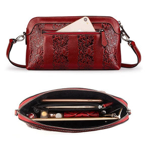 Amethyst M9805 Embossed Leather Single-shoulder bag - Multiple colors