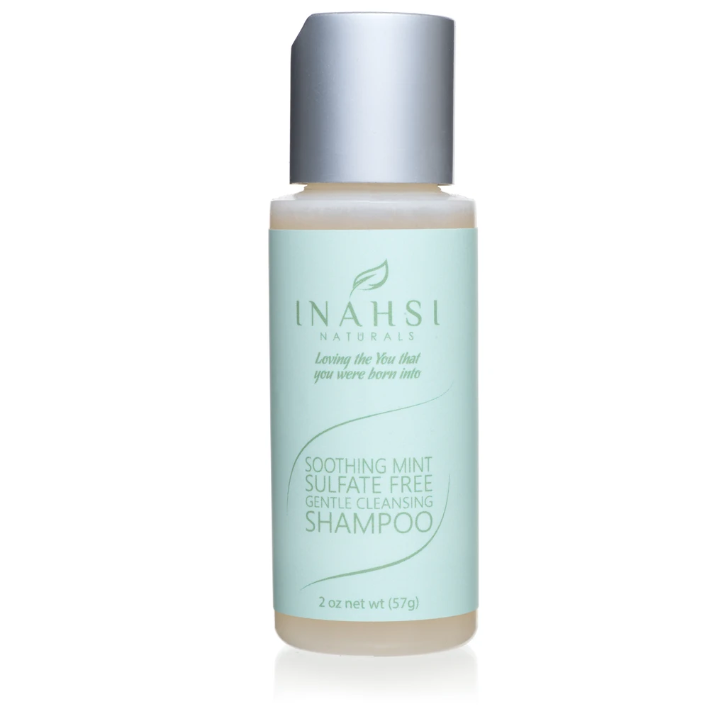 2 oz - Soothing Mint Sulfate Free Gentle Cleansing Shampoo