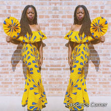 "Load image into Gallery viewer, ""Charmay"" African Peacock  Dress (SOLD OUT)"