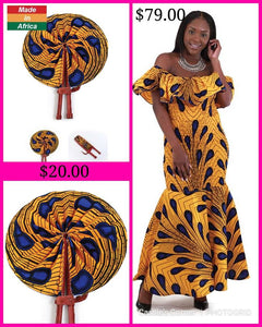 """Charmay"" African Peacock  Dress (SOLD OUT)"