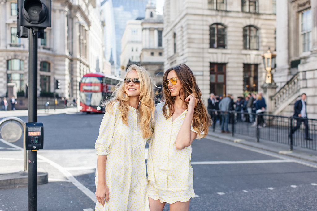 Yellow dot pyjamas in London