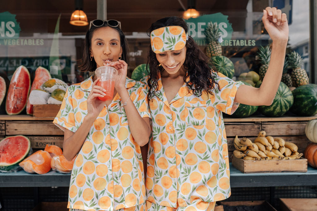 Clementine Patterned Nightire Sleepwear Sets Super Soft and Temperature Regulating