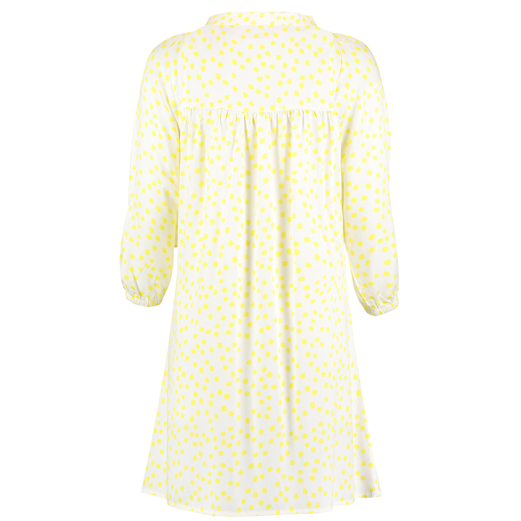 Yellow dot printed nightdress from organic bamboo