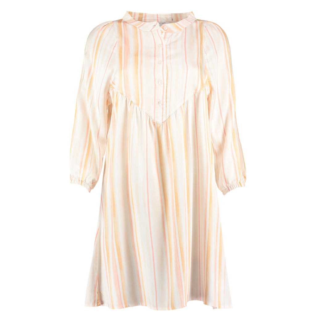 Pink pinstripe organic bamboo nightdress perfect for sleep
