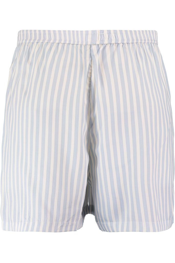 Blue and white stripe men boxers shorts in bamboo
