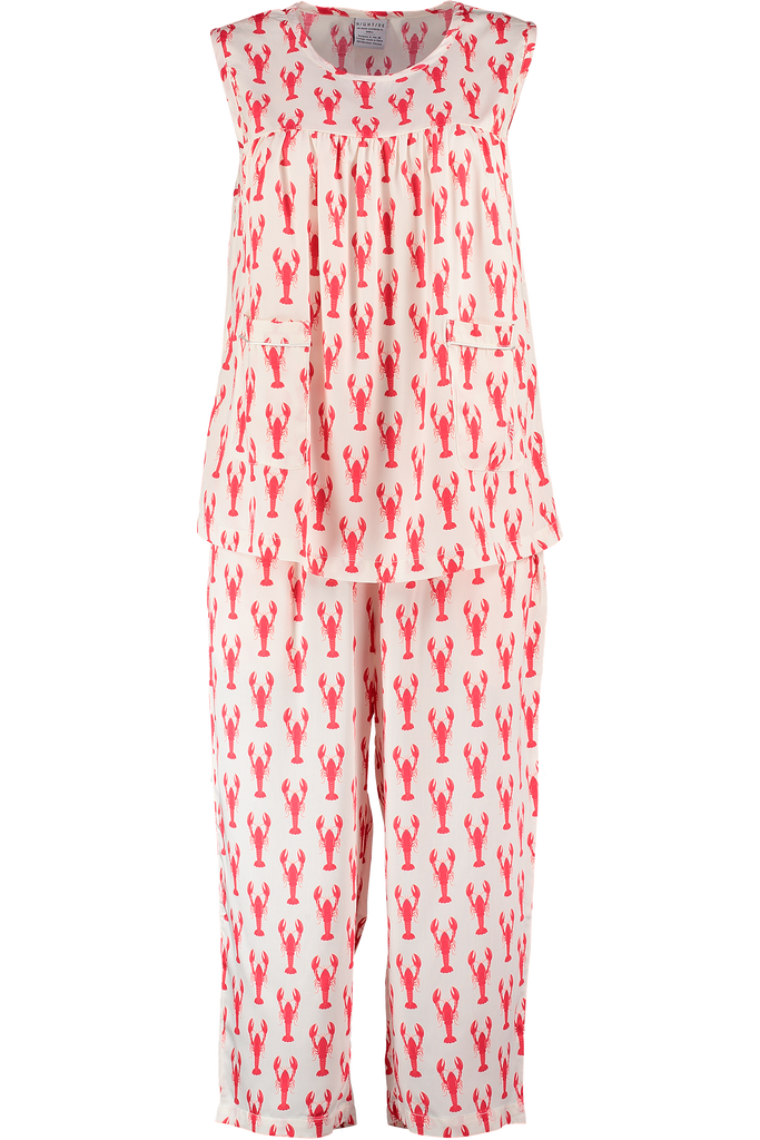 Lobster midi sleepwear set organic bamboo - perfect for all weather