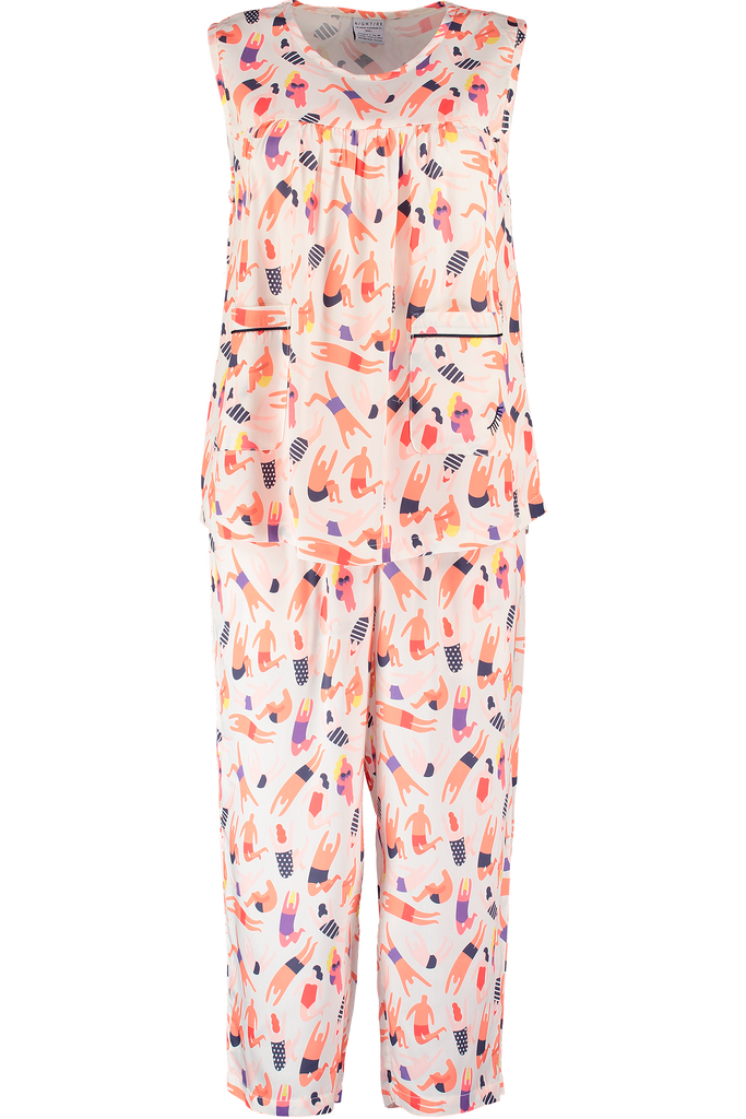 Bamboo Sleepwear in printed fabric made in London