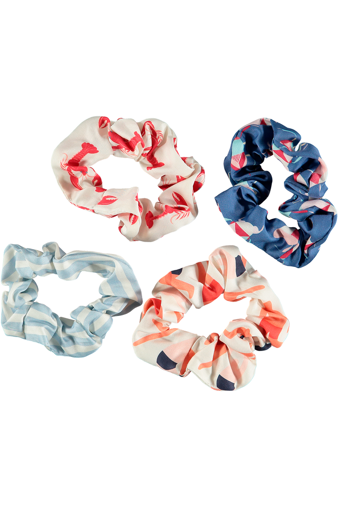 Hair scrunchie sleep accessory multi prints