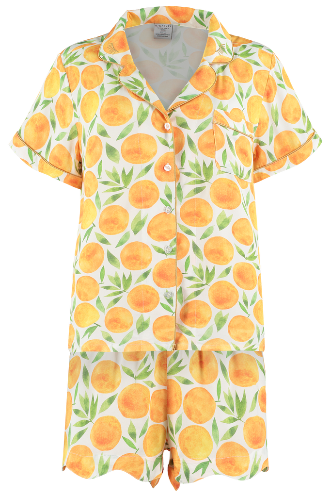 Fruity Printed Bamboo Short Pyjamas