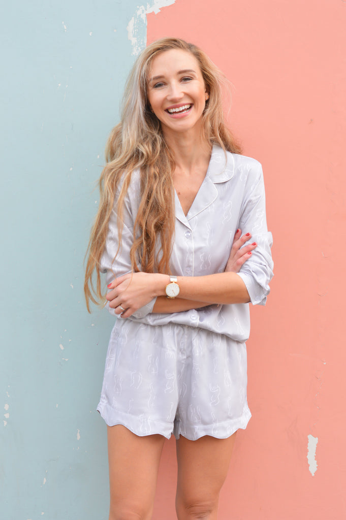 Light Grey Short Pyjama Summer Set
