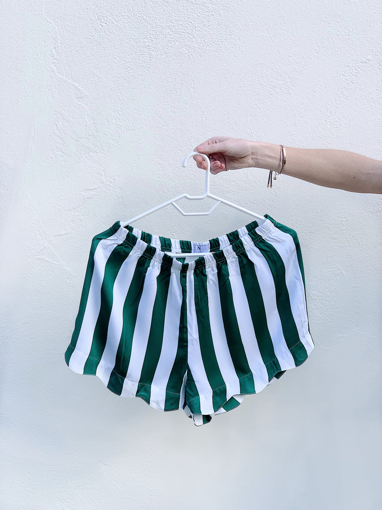Green Stripe Bamboo PJ bottoms