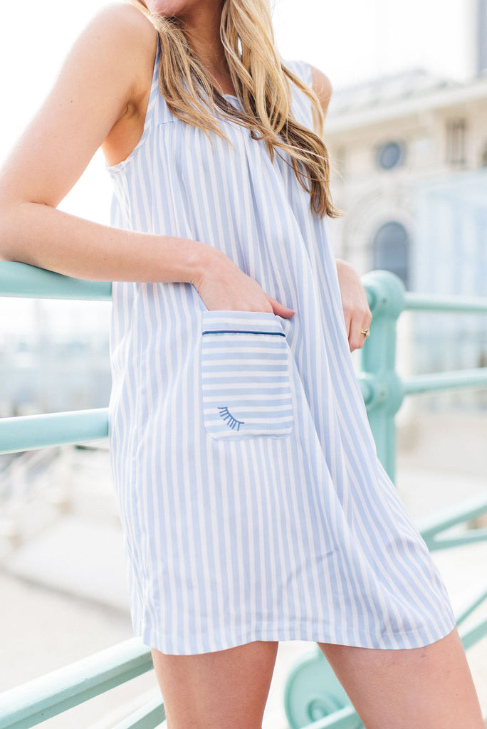 Light blue nightdress for summer days and nights