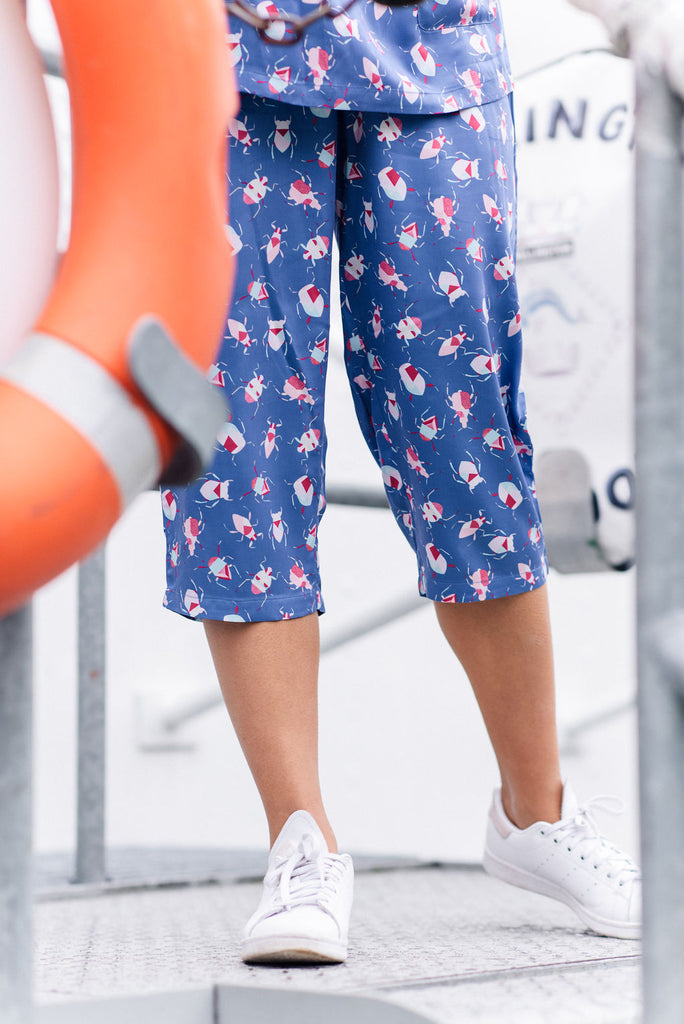 Summer to winter midi sleepwear set printed bamboo pyjamas