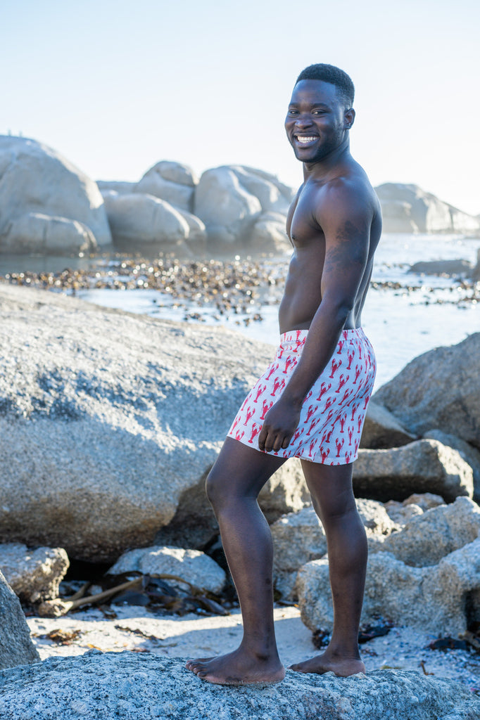 Lobster shorts Organic bamboo men's boxers