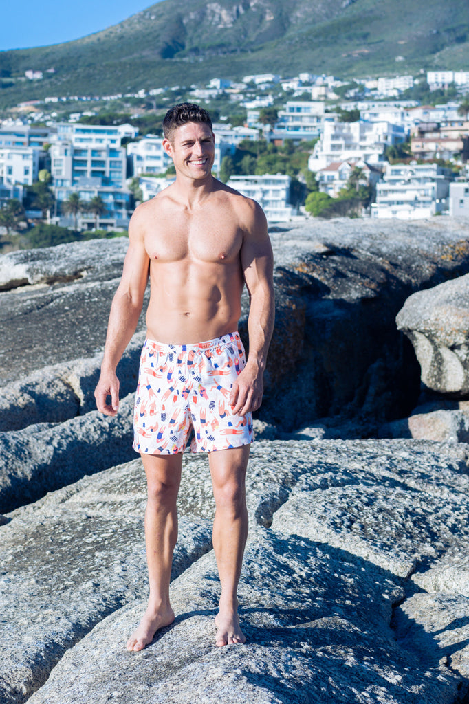 Swimmers Male Boxer Shorts Organic Bamboo Sleepwear