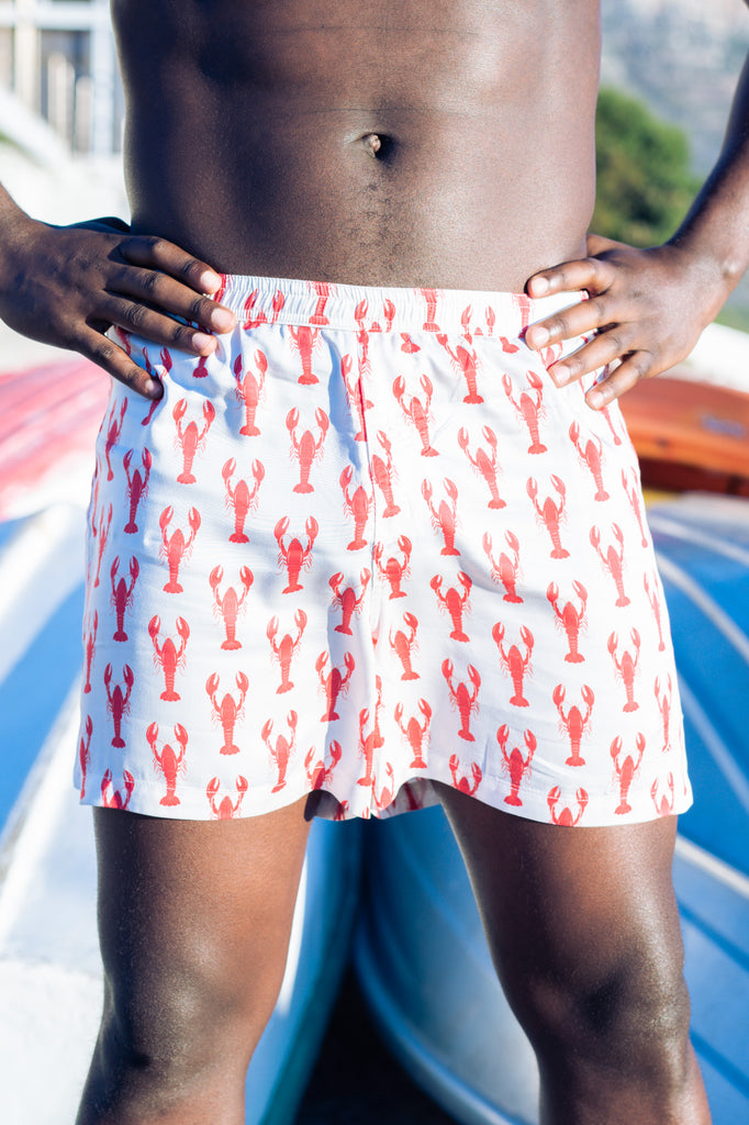 Nightire Lobster men's boxer shorts bamboo sleepwear