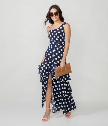 REMY POLKA DOT MAXI DRESS