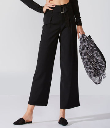 High-Waist Cropped Trouser
