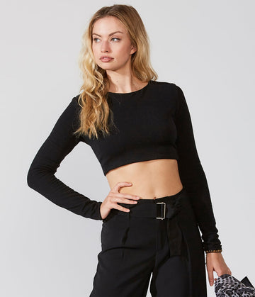 Tie-Back Knit Crop Top