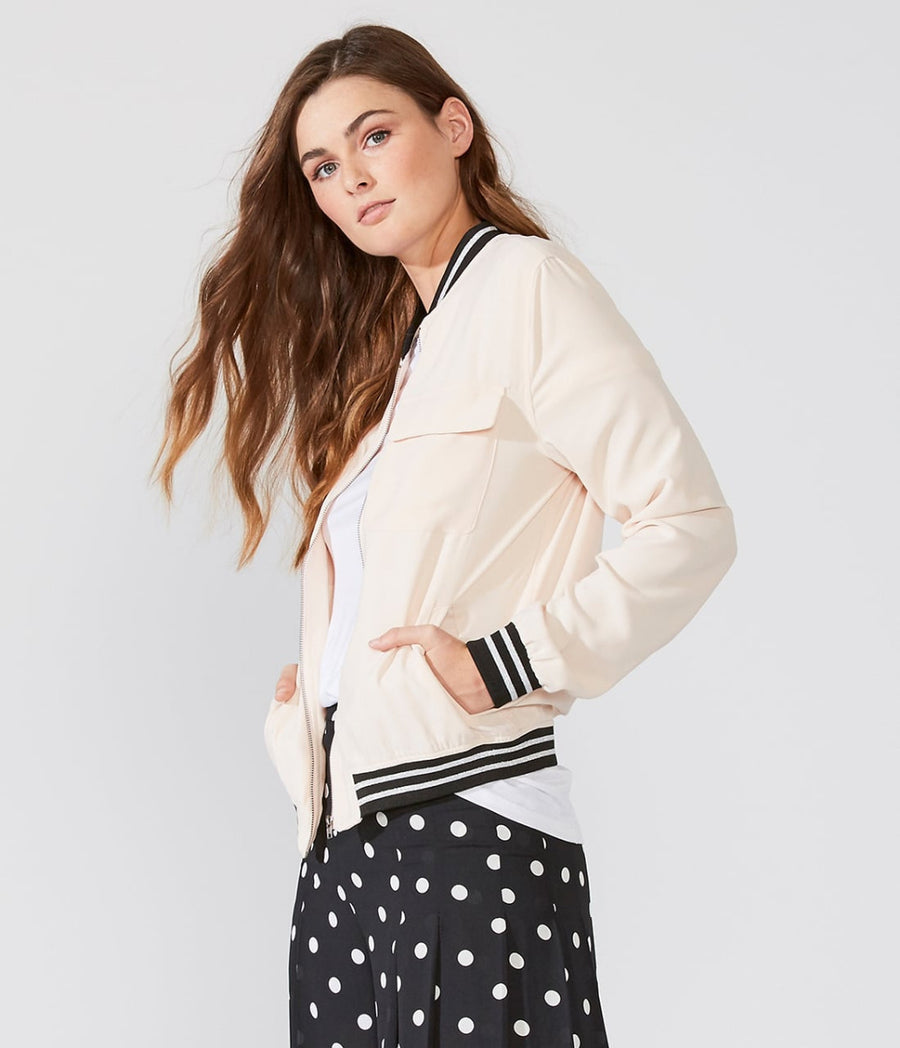 Metallic Accented Bomber