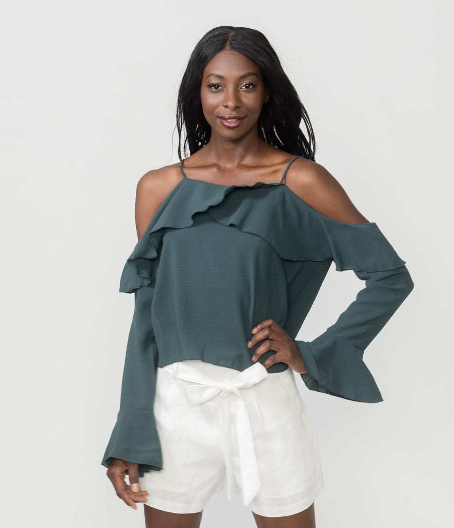 CRUSH ON YOU RUFFLE TOP
