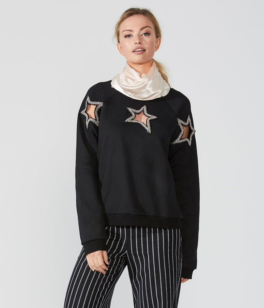Star Cut Out Sweatshirt
