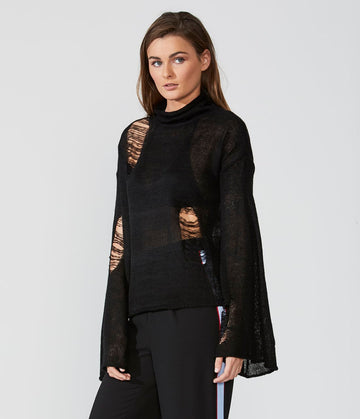 Bell Sleeve Turtleneck