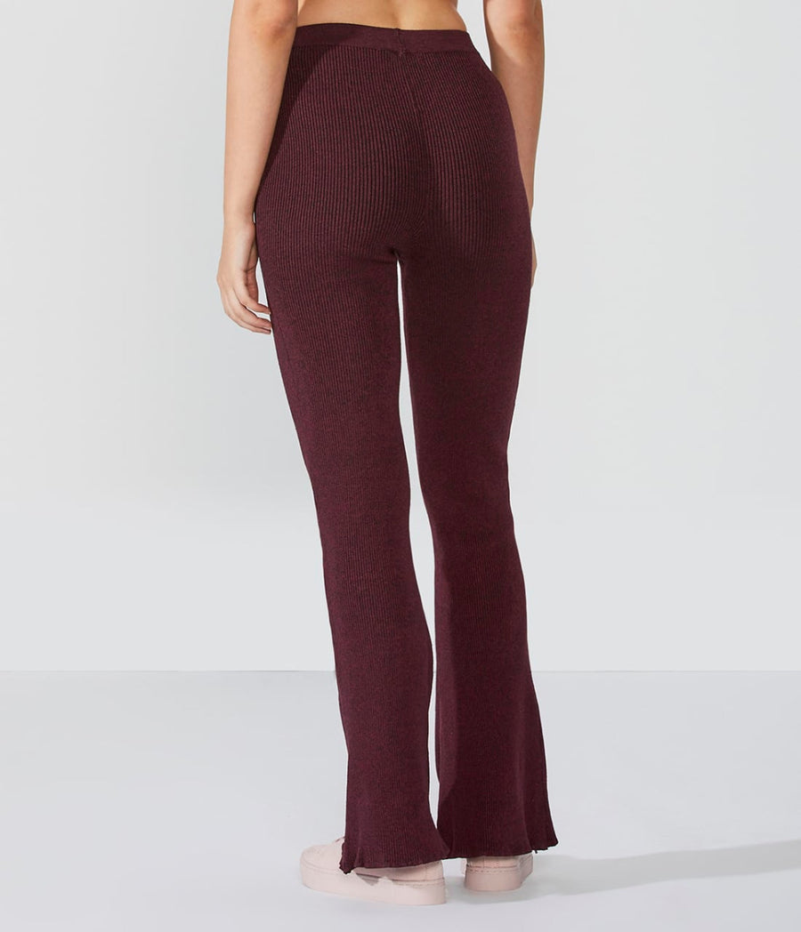 High-Waist Knit Flare Pant