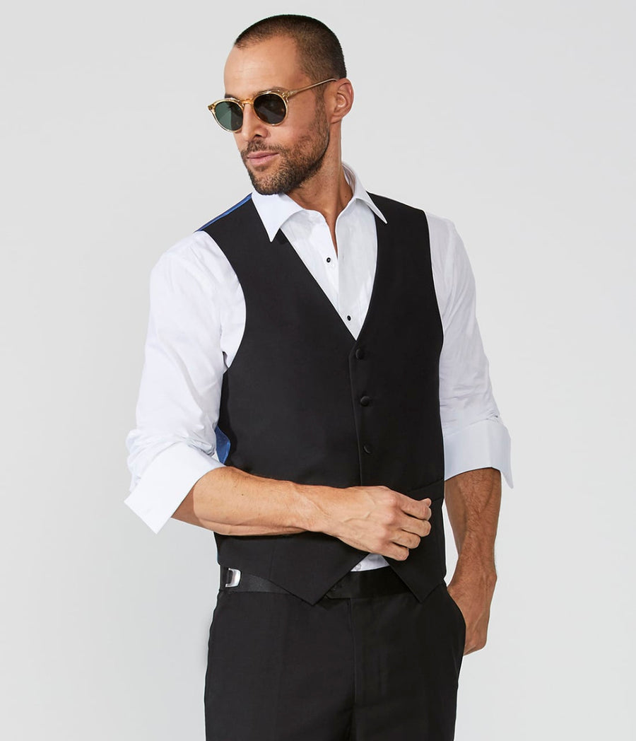 Tuxedo Shirt Laydown Front Wide Pleated