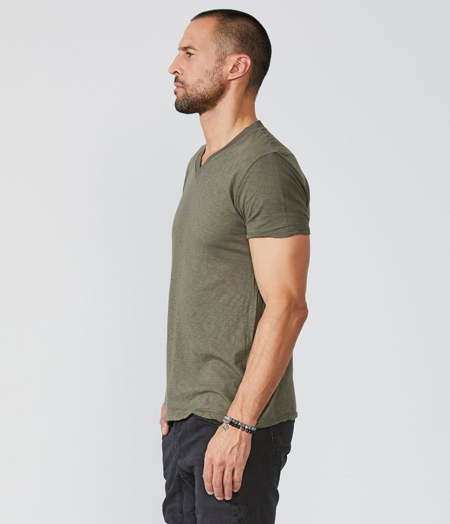 Lightweight Heather V-Neck Tee