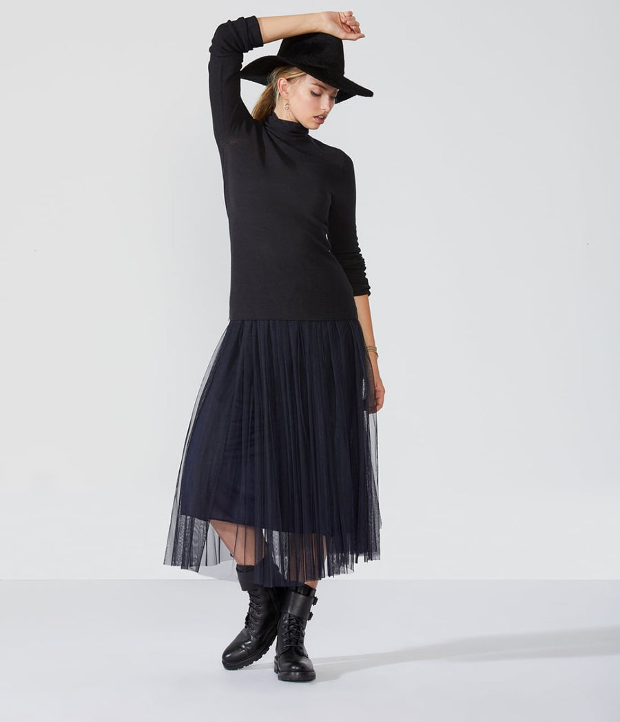 Double Mesh Tulle Skirt
