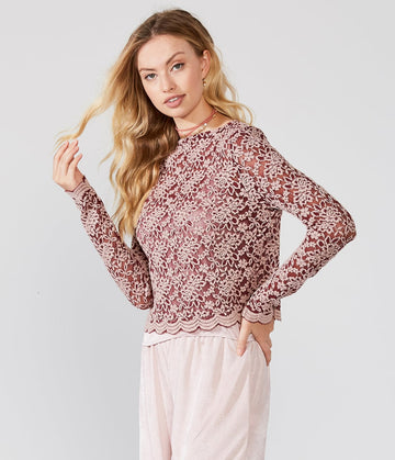 DELILAH LACE CROP TOP