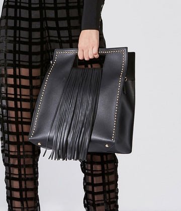 Square Handbag With Fringe