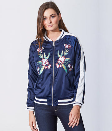 Embroidered Reversible Bomber