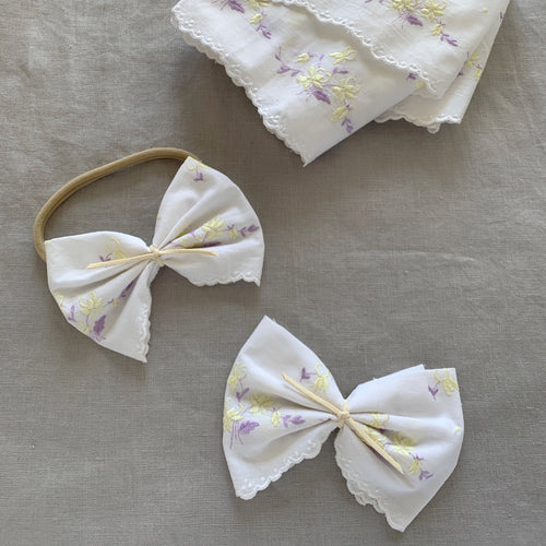 ANTOINETTE BOW - Lemon Lilac embroidery