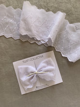 Load image into Gallery viewer, PROM QUEEN BOW - 70s white embroidery