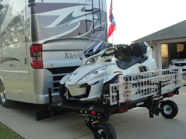 tandem tow, dual wheel, swivel wheel, can-am spider hauler, can-am spider carrier, motor home