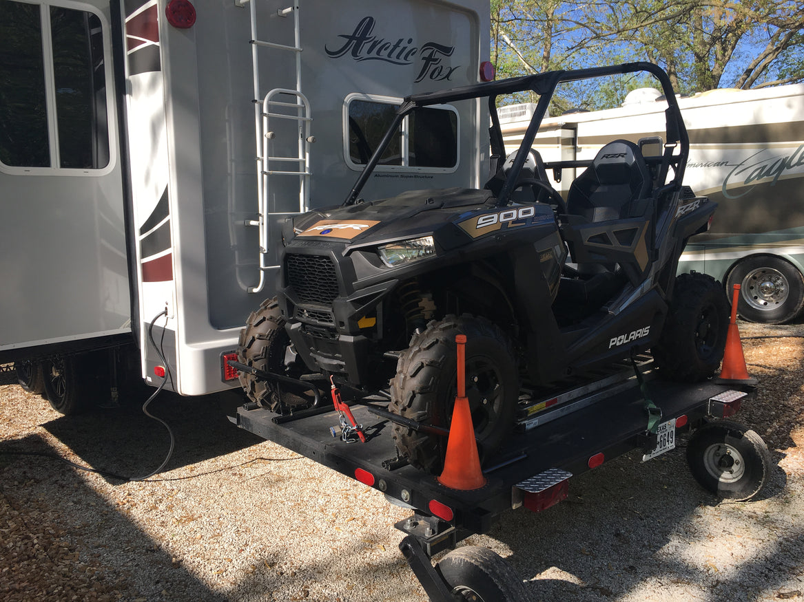 ATV, ATV Haulers, ATV carrier, dual wheel, swivel wheel, razor, motor home, RV
