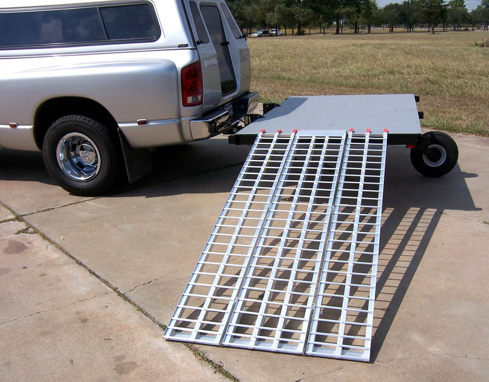 3 Piece Loading Ramp, Aluminum Ramp, Swivelwheel Ramp