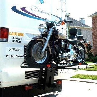 Cruiserlift Motorcycle Lift, Motorcycle Lift, Motorcycle Carrier, Motorcycle Hauler, Motorcycle, Motorhome, RV Motorcycle lift, RV Lift, RV Electric Motorcycle Lift, RV, Electric Motorcycle Lift, Harley, Honda, Victory, Yamaha, Winch Lift, Bikes, Bike Lift