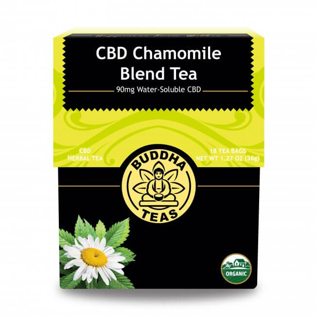 Box of Buddha CBD Chamomile Blend Tea - available at Curious Rick's Hemporium