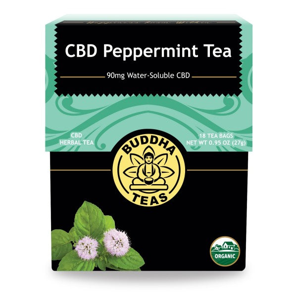 Box of Buddah Teas CBD Peppermint Organic Tea available at Curious Rick's Hemporiumm.com